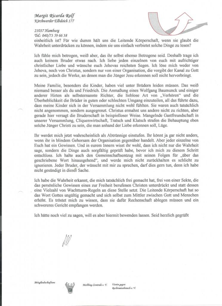 ZJA - Ausstiegsschreiben Bl. 2