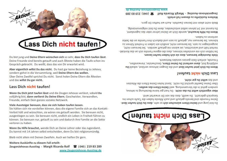 Flugblatt-Taufe